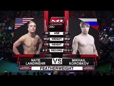 Нэйт Ландвер vs Михаил Коробков, M-1 Challenge 83 & Tatfight 5