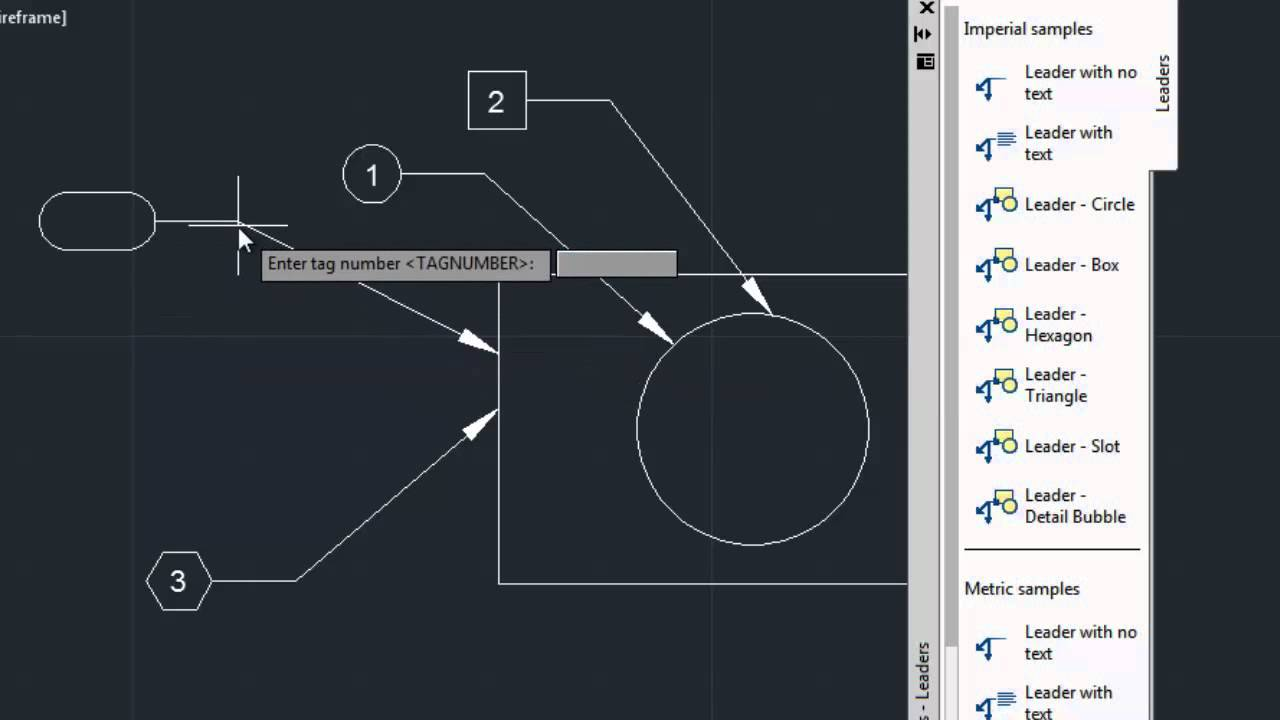 Drawing Lines With Arrows In Autocad : Autocad classes leader shape with toolpalletes youtube