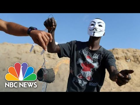 Drones Combat Flaming Kites Launched From Gaza | NBC News