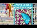 Butterfly beginner art journal page using stencils and magazine clippings #ArtfulEvidence