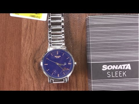 Sonata SLEEK Analog Watch 42mm Blue Dial In HINDI By TECHNICAL ASTHA