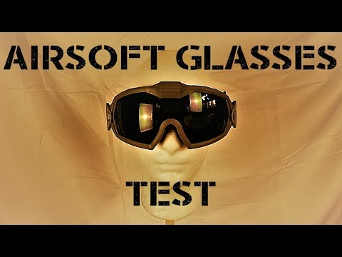 EXTREME Airsoft Safety Glasses Test