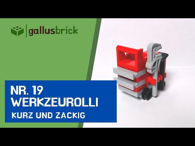 Werkzeugrolli aus LEGO® bauen! | Nr. 19 kurz und zackig