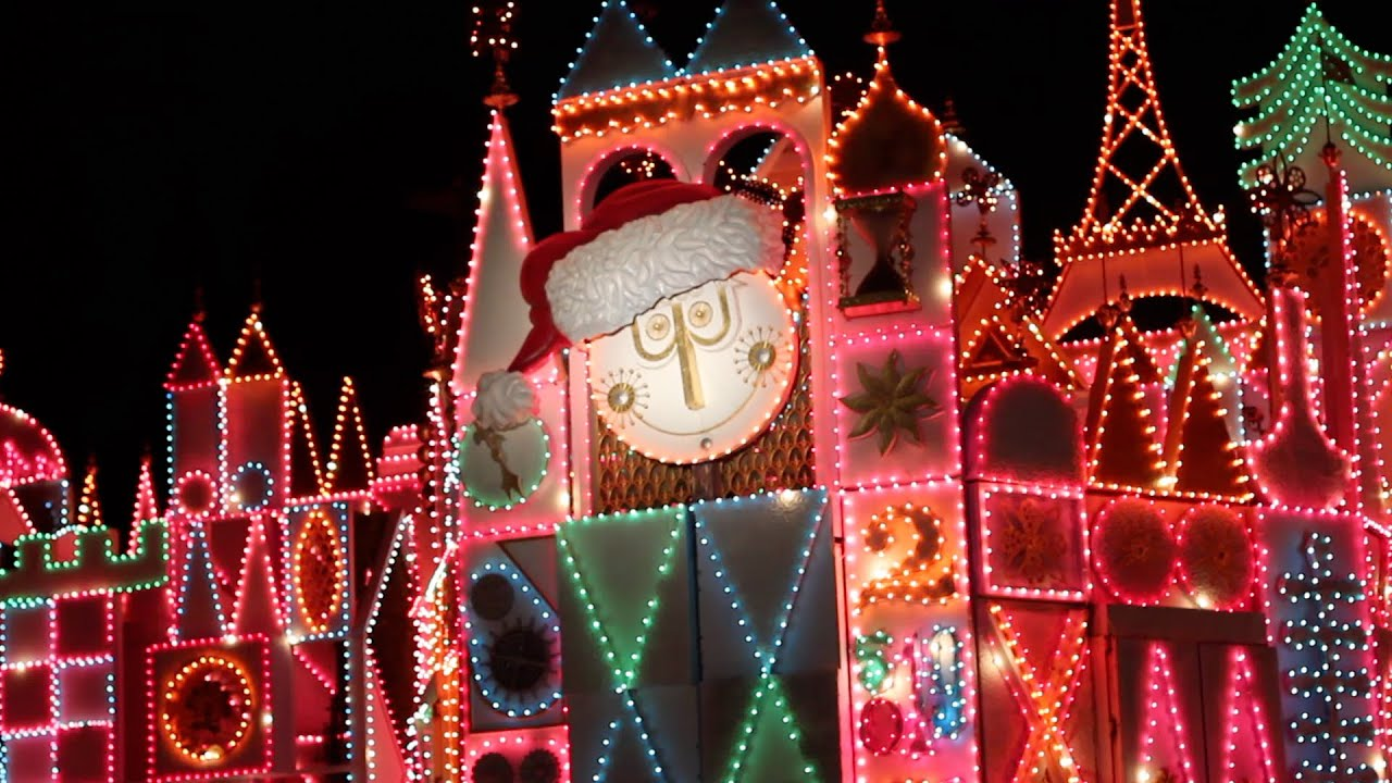 It S A Small World Holiday Christmas Projection Show Disneyland California Youtube