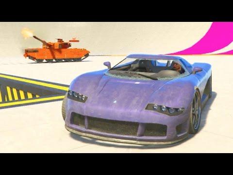 GTA 5 Online w/Crew Sumo Rooftop Challenge + Power Up Arena