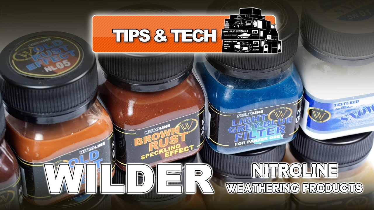 NEW WILDER NITROLINE WEATHERING PRODUCTS - UNBOXED