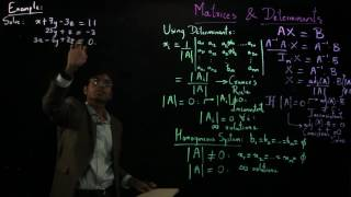 Video 6: How to Solve Linear Equations Using Matrices & Determinants
