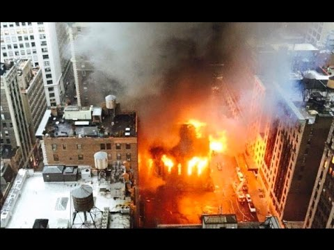 Fire Serbian Cathedral of Saint Sava NYC Midtown May 1 2016