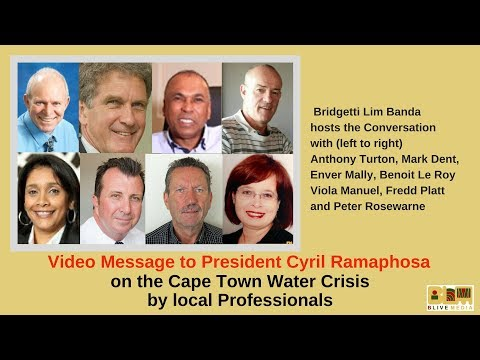 South Africa's Business Professionals address the President about the Cape Town Water Crisis