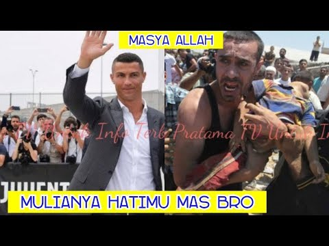 Masya Allah!. Cristiano Ronaldo Sumbang Rp. 21,6 Miliar Untuk Warga Palestina