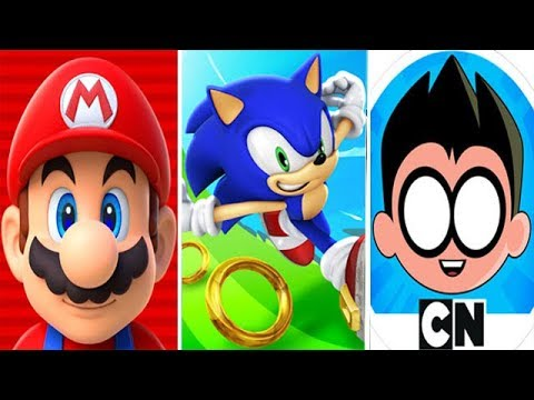 Super Mario Run Vs Sonic Dash Vs Teen Titans Go