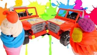 Heladería Mágica 🍦 Helados de PLASTILINA Play Doh para Jeep de juguete. Vídeos de cocinar para niños
