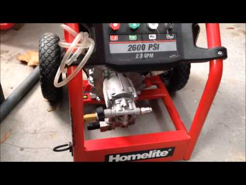 Problem With Homelite 2700 Pressure Washer From Home Depot