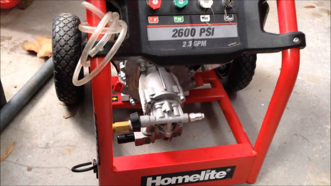 Homelite Pressure Washer 2014 Youtube