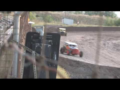 Southern Oregon Dwarf Cars (SODCA) at SO. Speedway 8/3/19 Heat 2