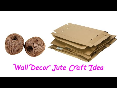 How to make jute wall hanging handmade jute Wall Decor Jute Craft Idea Wall Decor craft by Jute Rope