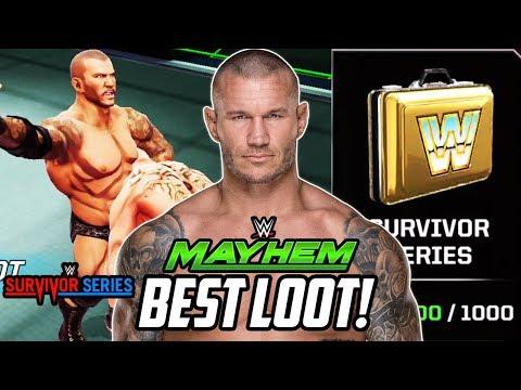 WWE MAYHEM SURVIVOR SERIES SPECIAL LOOT!!!