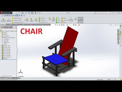 Solidworks Tutorial How to Make A Chair