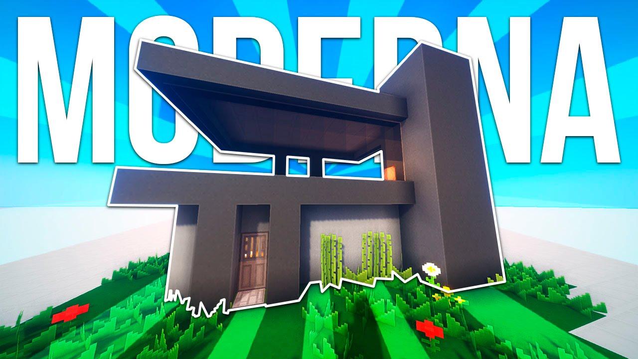 Tutorial casa moderna simple minecraft youtube for Casa moderna tutorial minecraft