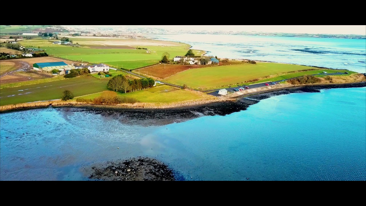 Drone footage of Newtownards, Strangford Lough, Scrabo Tower and Island Hill, Northern Ireland.
