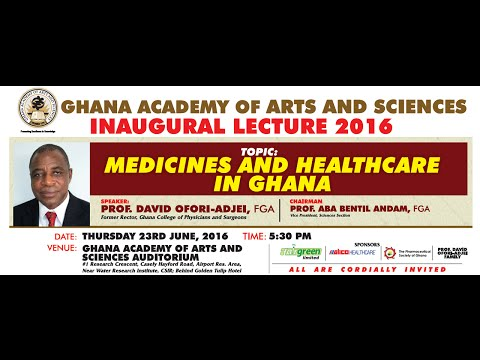 GAAS Inaugural Lecture by Prof. David Ofori-Adjei