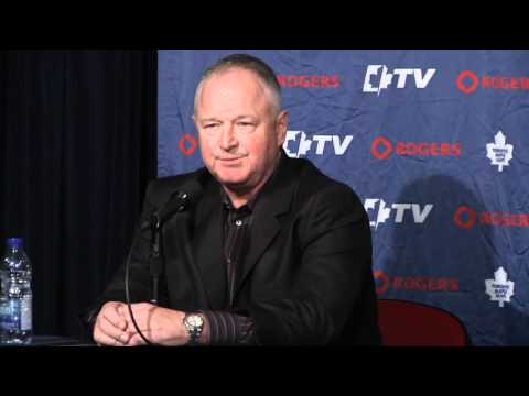 Brian Burke & Randy Carlyle Maple Leafs New Head Coach Press Conference March 3rd 2012