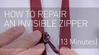 How to Repair An Invisible Zipper