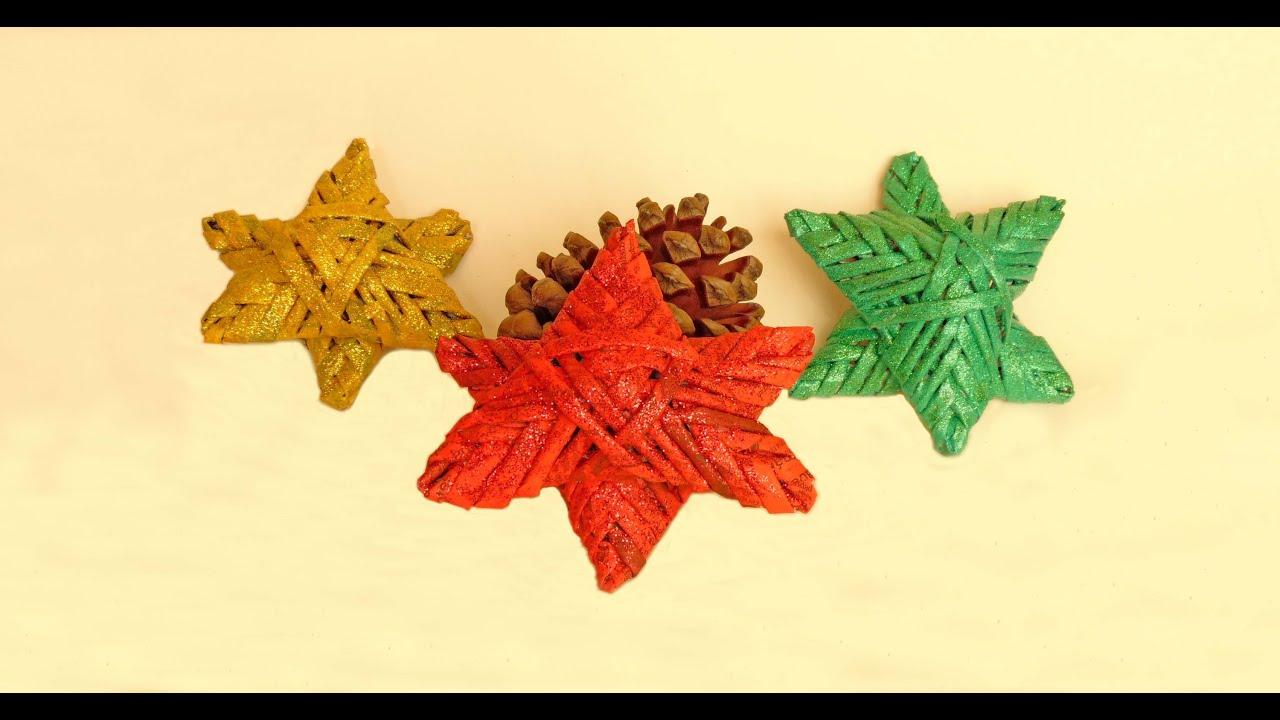 Como hacer estrellas de navidad con papel de peri dico - Estrellas de papel ...