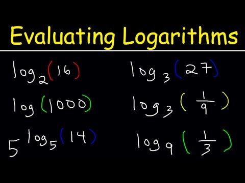 Logarithms Basic Introduction, Evaluating Logarithmic Expressions Without a Calculator - Algebra 2