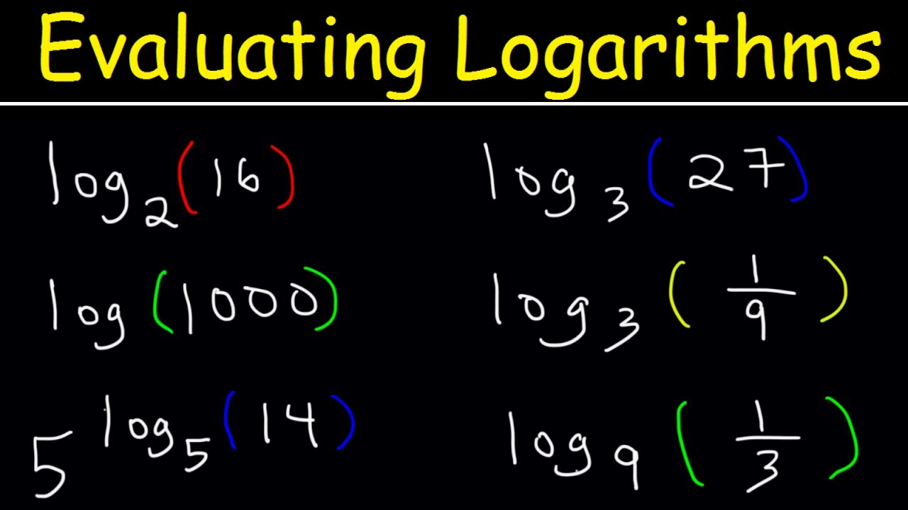 Logarithms The Easy Way Youtube
