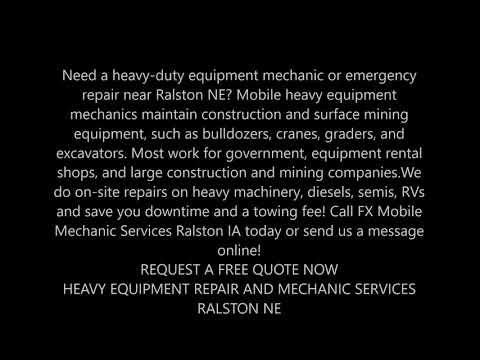 24 Hour Emergency Mobile Heavy Duty Mechanic Near Ralston NE   FX Mobile Mechanic
