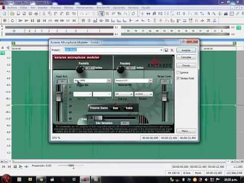 Grabacion y Edición en Sound Forge Pro 10