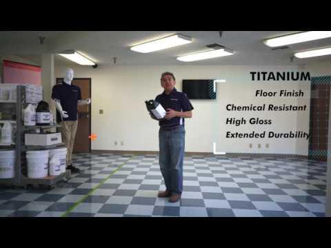 Scrub & Re-coat Titanium Floor Finish