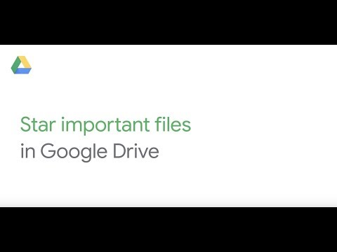 Star important files in Google Drive