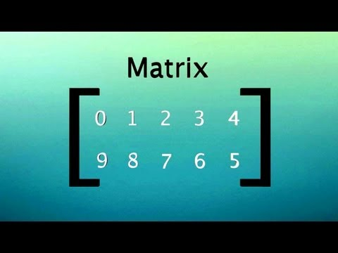 Video image: How to organize, add and multiply matrices - Bill Shillito