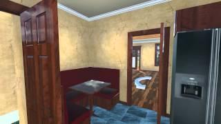 Custom House Plan - Craftsman Bungalow - Interior Exterior Fly Through