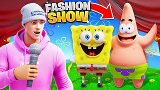 I joined a Fashion Show as SPONGEBOB & PATRICK!
