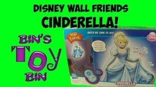 Disney Princess CINDERELLA Wall Friends! Light-Up Talking Figure Review! by Bin