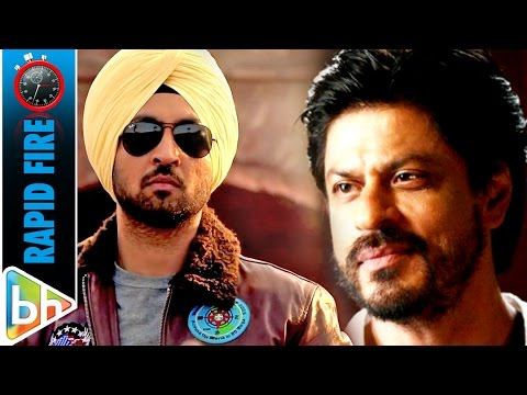 Diljit Dosanjh's FUNNY Rapid Fire On Shah Rukh Khan | Anushka Sharma | Rab Ne Bana Di Jodi