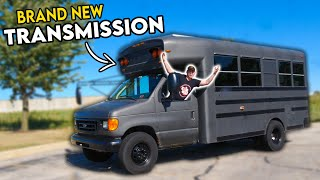 homepage tile video photo for ADVENTURE BUS is RESURRECTED With a BRAND NEW TRANSMISSION! (It was blown up...)