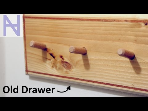 Coat Rack from an Old Drawer