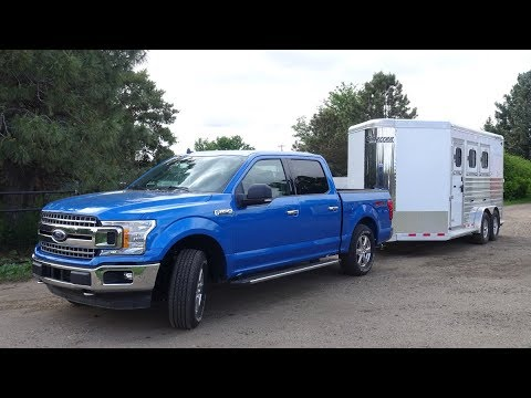 2019 Ford F150 MrTruck.com reviewing 2.7L EcoBoost towing max trailer in the Rockies