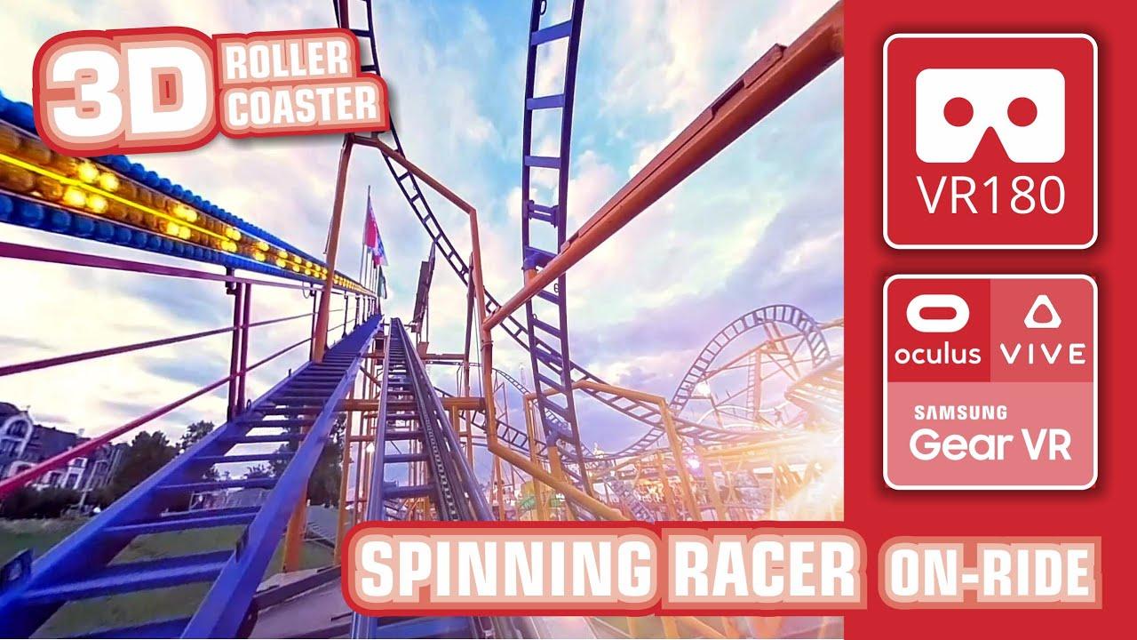 VR180 Crazy Roller Coaster SPINNING RACER VR 3D Experience | VR 360 POV front row Fairground Kirmes