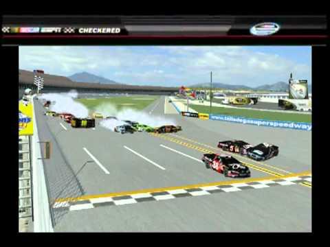 Nr2003 Finish Crash With Espn Ticker Youtube