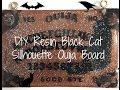 DIY Resin Cat Silhouette Ouija Board//SamNomNomNom