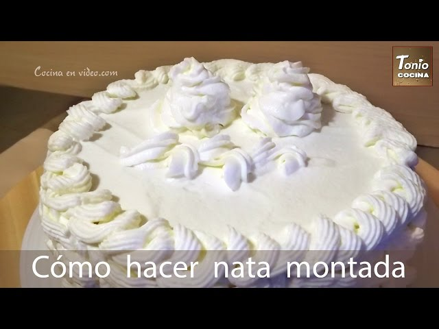Cómo hacer Nata montada extra firme   Chantilly para rellenar y decorar tartas