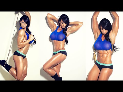 Cindy Landolt at the Health and Fitness Expo in Switzerland
