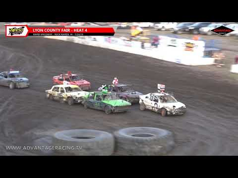 Lyon County Fair Figure 8 Heats - Rapid Speedway - 7/24/19