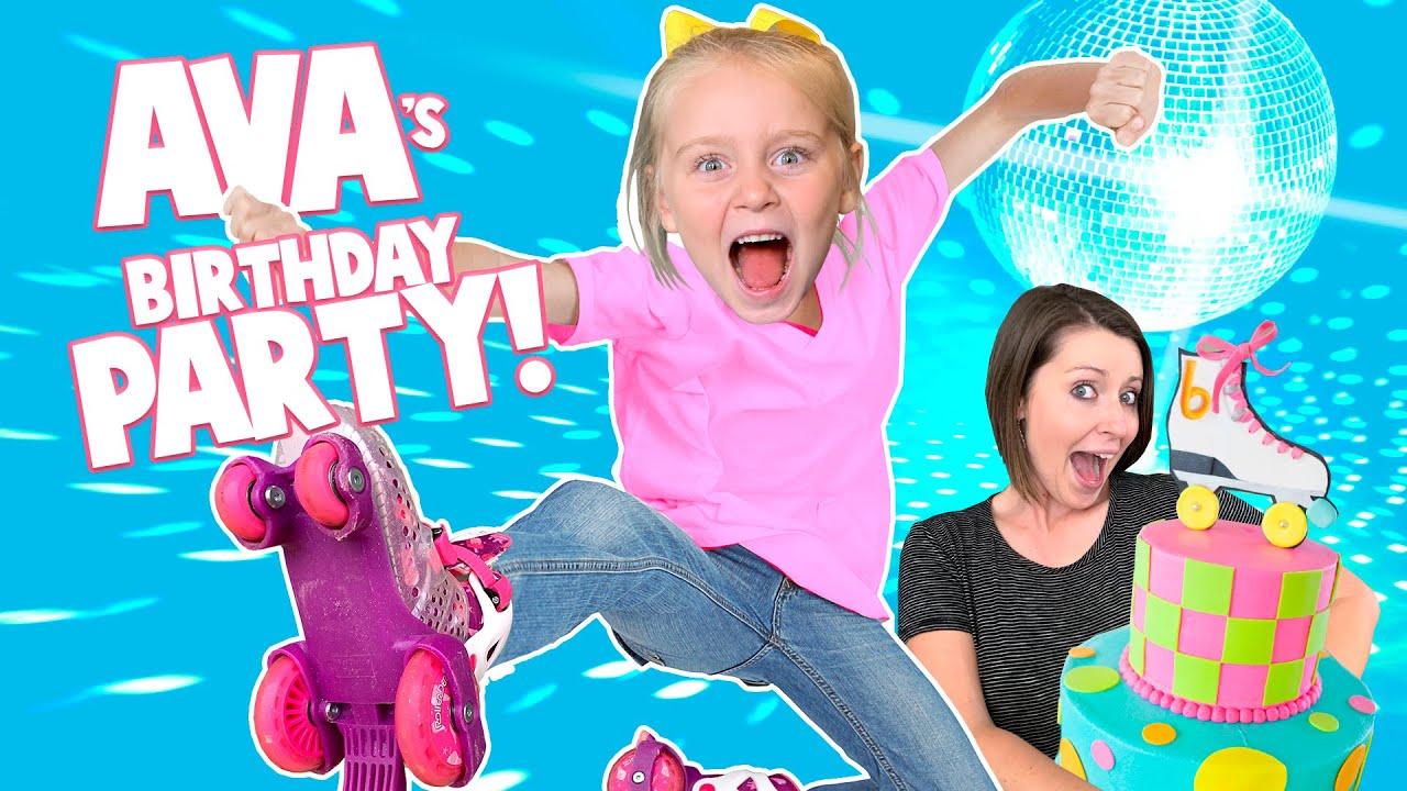 Ava's Birthday Party!!! (Roller Skating Birthday VLOG!) / K-City Family