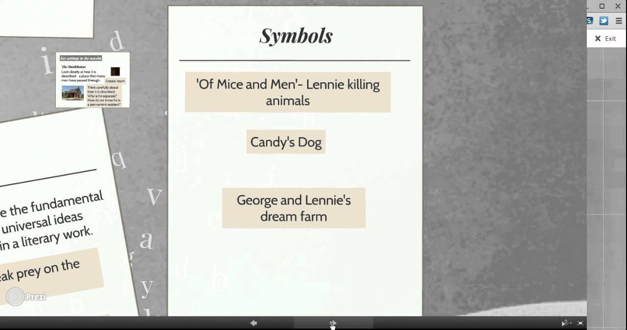 themes and symbols in of mice and men themes and symbols in of mice and men